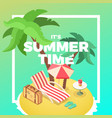 summer time island vector image