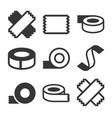tape icons set vector image vector image