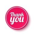 Thank you round label vector image vector image