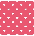 Tile cute pattern white hearts pink background vector image vector image