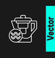 white line water jug with a filter icon isolated vector image vector image