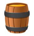 wood honey barrel icon cartoon style vector image
