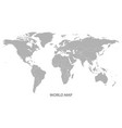 world map template in grey on white vector image