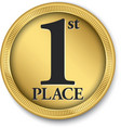 1st place gold medal vector image vector image