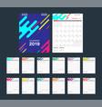 2019 colorful calendar desk calendar modern vector image vector image