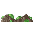 a rock mountain on white background vector image