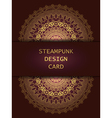 Banner with steampunk design elements vector image vector image