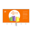 billboard with ad of shopping tour isolated on vector image