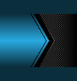 black arrow on blue metallic blank circle mesh vector image vector image