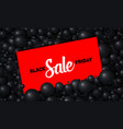black friday sale of red card vector image vector image