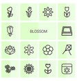 blossom icons vector image vector image