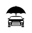 car insurance logo concept protect icon vector image