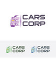 car logo design vector image