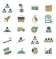 cartoon color project management icons set vector image