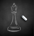 chalk drawn queen chess vector image