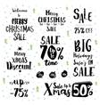 Christmas sale vintage text labels vector image vector image