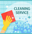 cleaning service flat concept vector image vector image
