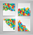 colorful business templates vector image vector image