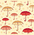 colorful hand drawn autumn seamless pattern vector image vector image