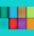 comic colorful cards set vector image vector image