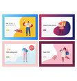 commerce sale offer promotion landing page set vector image vector image