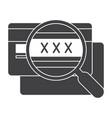 cvv code icon vector image vector image