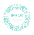 dentist orthodontics medical banner with vector image vector image