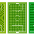 Different green football fields collection vector image vector image