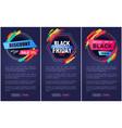 discount black friday web page vector image vector image