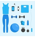 fitness woman gym vector image