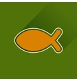 Flat icon with long shadow Christian fish vector image vector image
