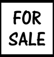For Sale vector image