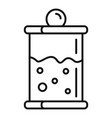 french press icon outline style vector image vector image