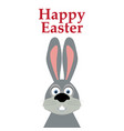 funny easter bunny on a white background vector image vector image