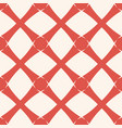 geometric grid background abstract red and white vector image vector image
