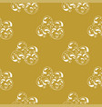 golden vintage damask decor seamless pattern vector image