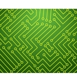 Green and Yellow Printed Circuit Board vector image vector image