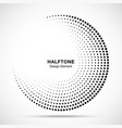 halftone circle frame black abstract random dots vector image vector image