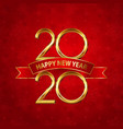 happy new year background with gold numbers and vector image vector image