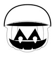 isolated empty jack-o-lantern for candies vector image vector image