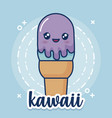 kawaii ice cream icon vector image vector image