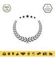 laurel wreath with five stars - design symbol vector image