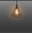 loft style ceiling lamp for hipster interior vector image