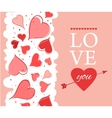Love you lettering Greeting Card on pink back vector image vector image