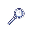 magnifying glass with zoom lens isolated vector image