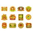 Mexican Food Emblem Set vector image vector image