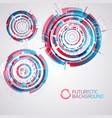 modern futuristic circles set vector image vector image