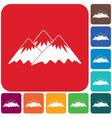 mountain icon concept vector image vector image