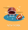 new york american footballvactor vector image vector image