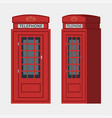 phone booth london vector image vector image